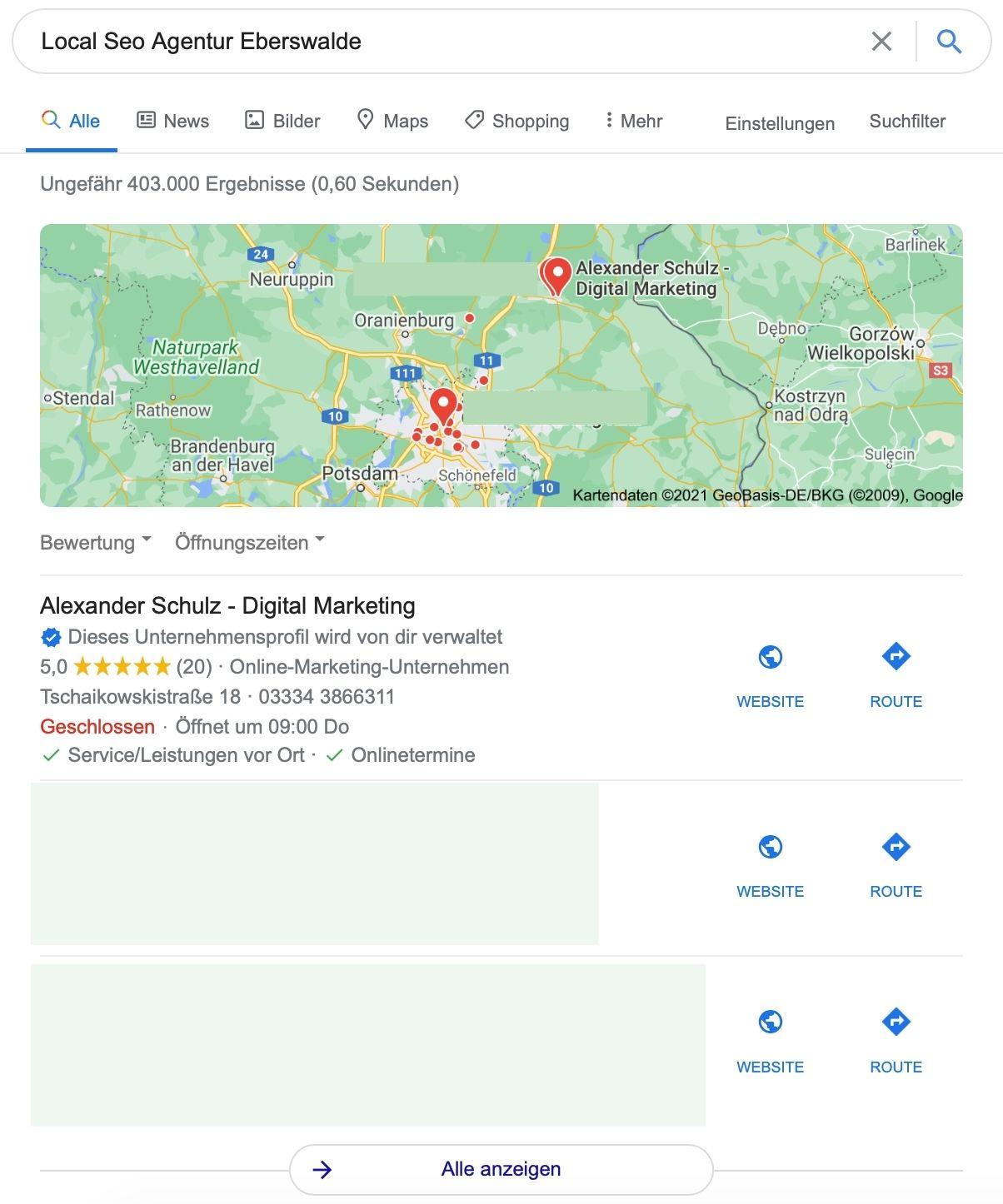 Local Pack - Alexander Schulz Digital Marketing